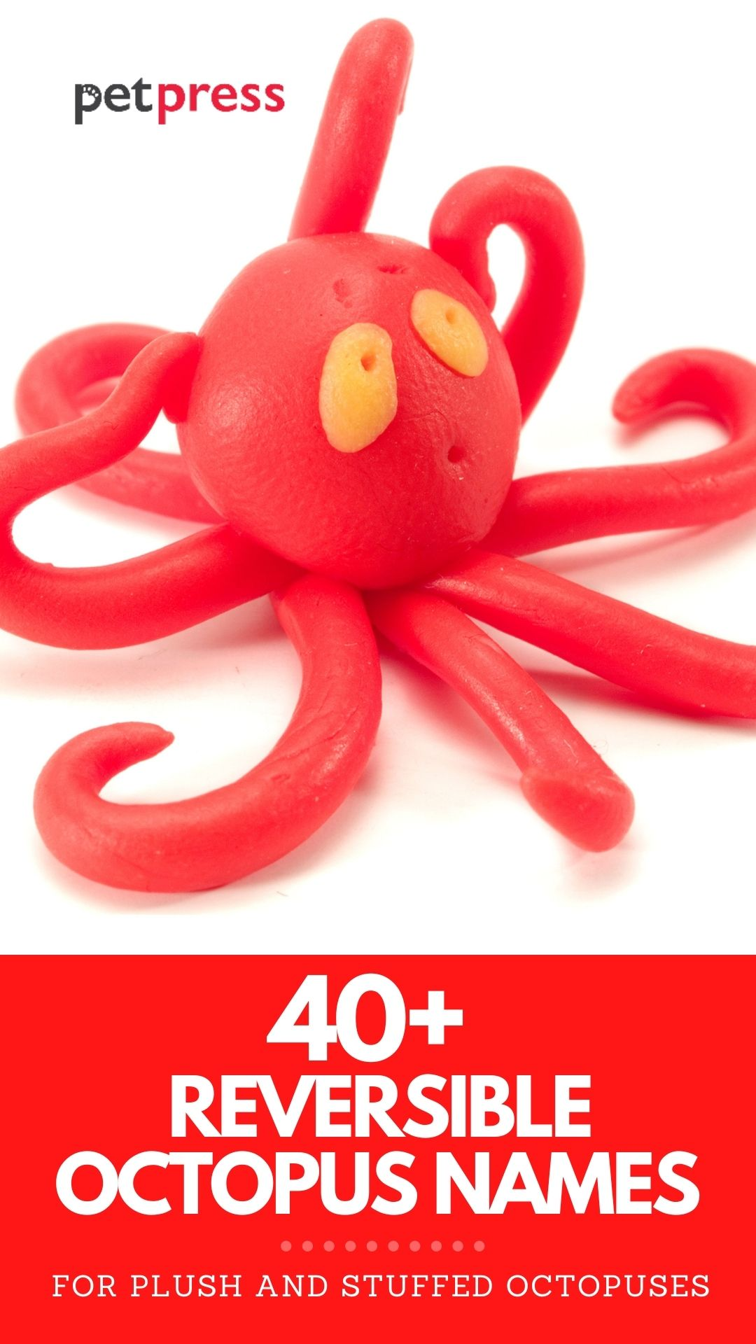 reversible octopus names for plush or stuffed octopus