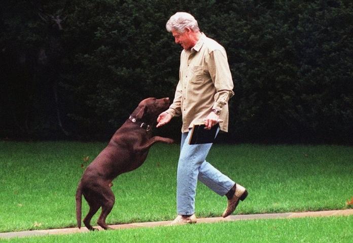 Buddy and Bill Clinton