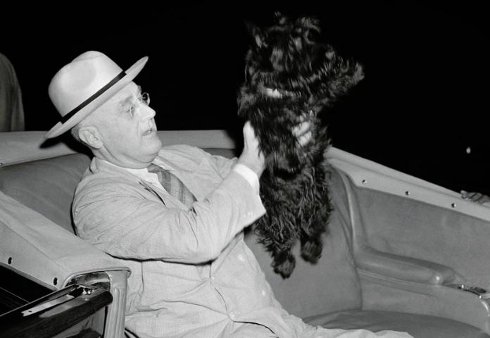 Fala and Franklin D. Roosevelt